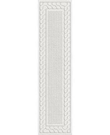 "ORI431391 Picket Fences Natural 1'11"" x 7'6"" Runner Rug"