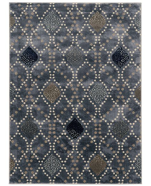 "KM Home CLOSEOUT! 3797/1022/Gray Imperia Gray 7'10"" x 10'6"" Area Rug"