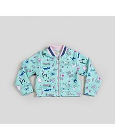 Girl's Scuba Printed Bomber Jacket