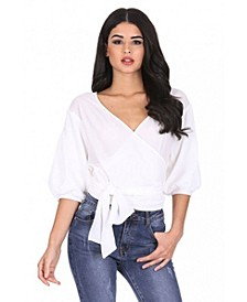 Women's Wrap Crop Top