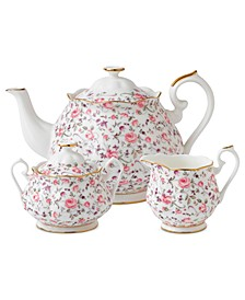 Rose Confetti 3-Piece Tea Set