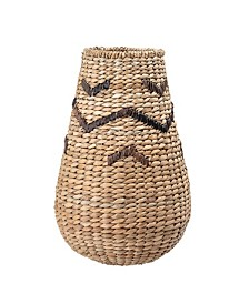 Small Tall Woven Wicker Basket with Top Design
