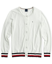Tommy Hilfiger Adaptive Women's Marilyn Tipped Cotton Cardigan Sweater