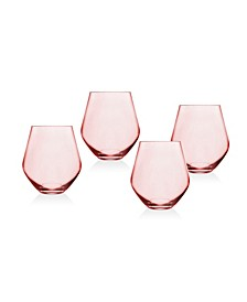 Meridian Blush Stemless - Set of 4