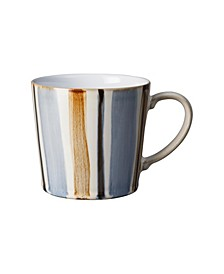 Brown Stripe Painted Large Mug