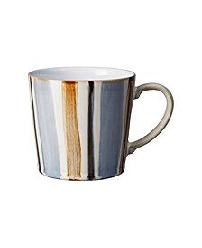 Denby Brown Stripe Painted Large Mug