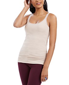 Lace-Trimmed Camisole Top, Created for Macy's
