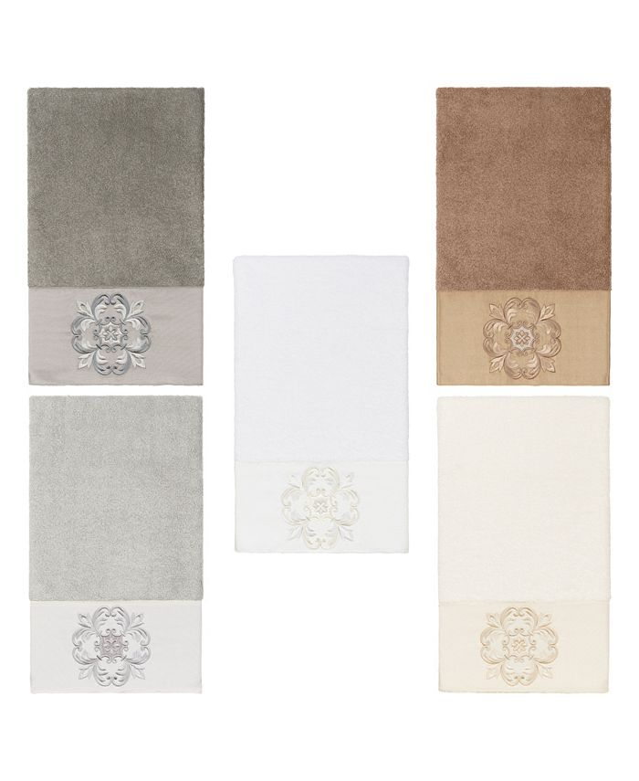 Linum Home - 100% Turkish Cotton Alyssa Embellished Bath Towel