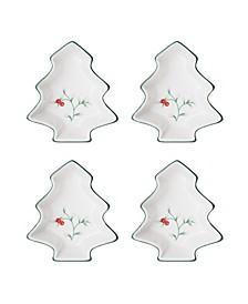 Winterberry Tree Dip Bowl, Set of 4