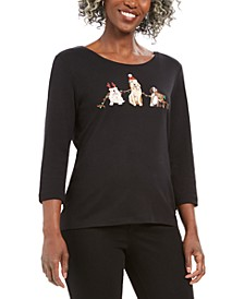 Holiday Dog Graphic T-Shirt, Created For Macy's