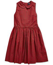 Big Girls Plaid Cotton Poplin Dress