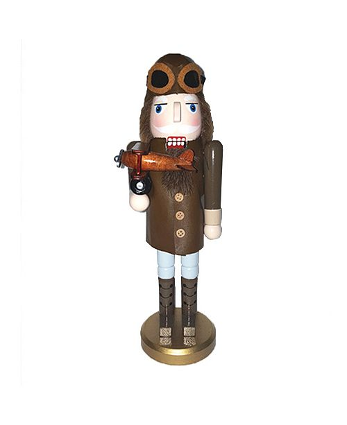 "Santa's Workshop 13.5"" Aviator Nutcracker"