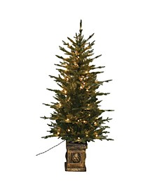 4.5' Balsam Potted Green Fir Artificial Christmas Tree
