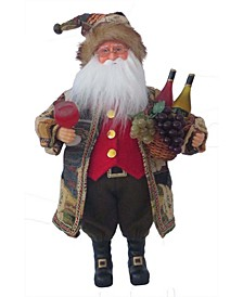 "16"" Wine Tasting Santa Claus"
