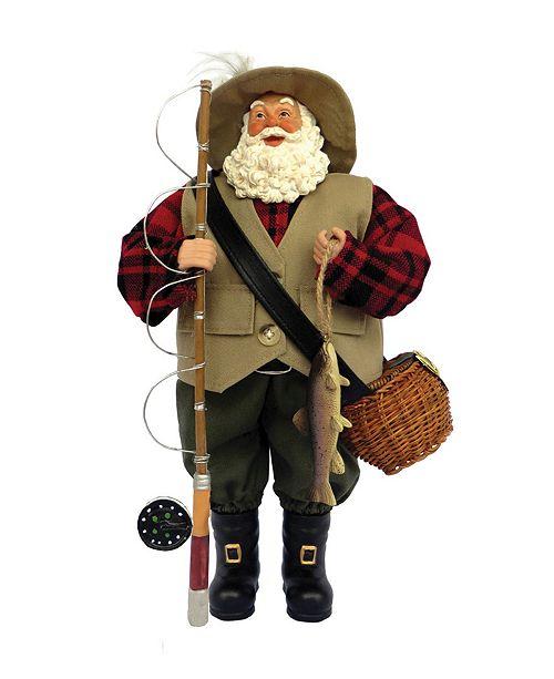 """Santa's Workshop 12"""" Fly Fishing Santa"""