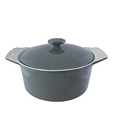 2 Qt Stoneware Round Casserole with Lid