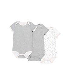Gertex Dream Baby Girls Short Sleeve Bodysuit 3 pack in Giftbox