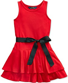 Little Girls Tiered Stretch-Modal Dress