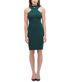 GUESS Crisscross & Cutout Dress