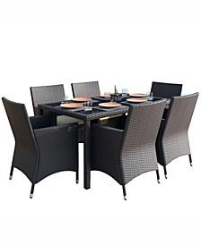 Park Terrace 7 Piece Weave Patio Dining Set