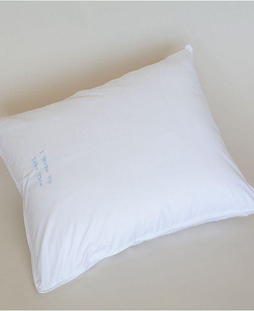 The Pillow Bar Down Alternative Standard Back Sleeper Pillow
