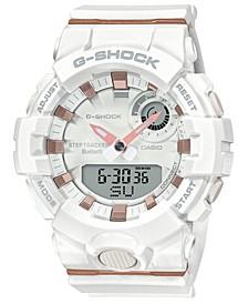 Men's Analog-Digital White Resin Strap Watch 45.2mm