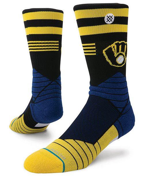 Stance Milwaukee Brewers Diamond Pro Authentic Crew Socks