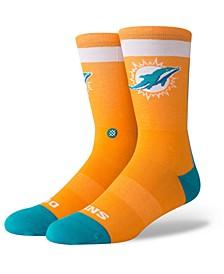 Miami Dolphins Spirit Strip Crew Socks