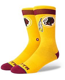 Washington Redskins Spirit Strip Crew Socks