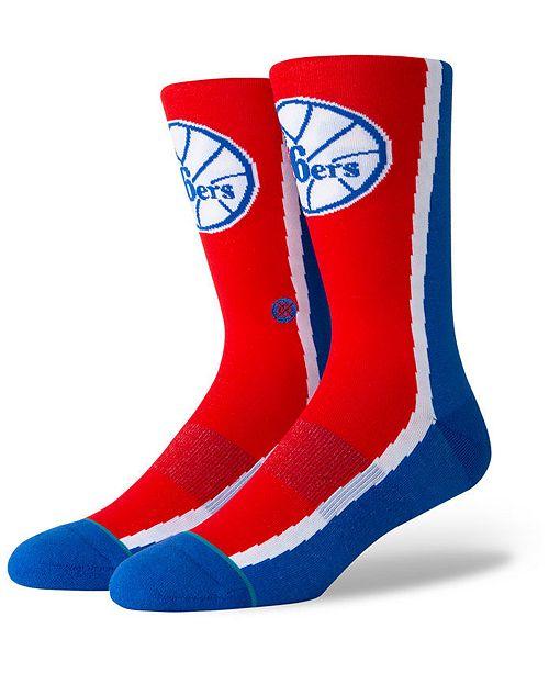 Stance Philadelphia 76ers Hardwood Classic Warmup Crew Socks