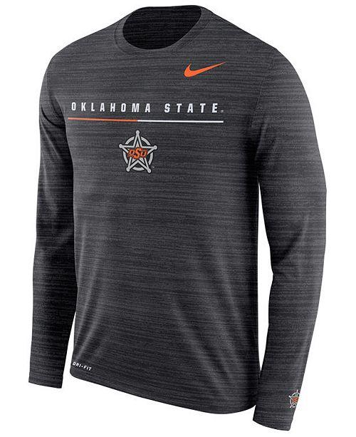 Nike Men's Oklahoma State Cowboys Velocity Travel Long Sleeve T-Shirt