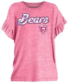 Big Girls Chicago Bears Ruffle Foil T-Shirt
