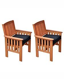 Miramar Hardwood Outdoor Armchairs, Set of 2