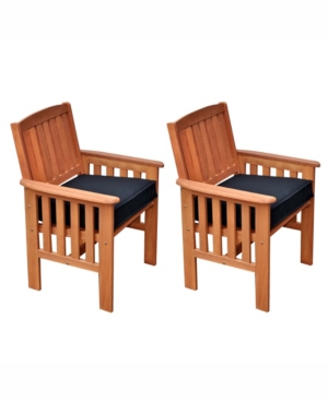 Corliving Distribution Miramar Hardwood Outdoor Armchairs, Set of 2 -  PEX-868-C