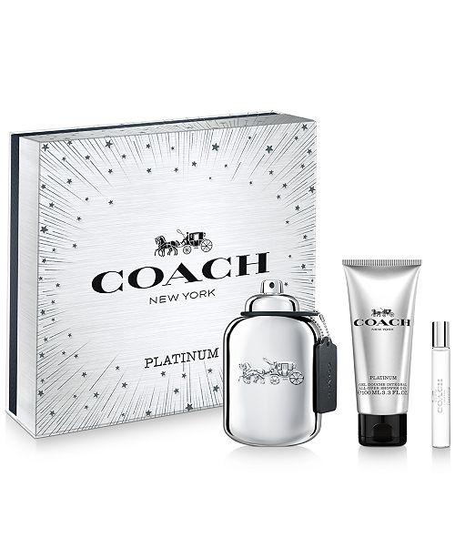 COACH Men's 3-Pc. Platinum Eau de Parfum Gift Set