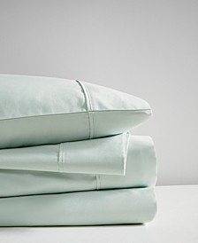 400 Thread Count Cal King 4-Piece Wrinkle Resistant Cotton Sateen Sheet Set