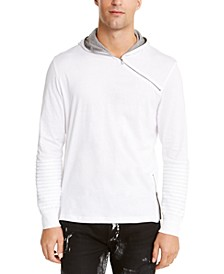 INC Men's Pleated Hooded T-Shirt, Created For Macy's