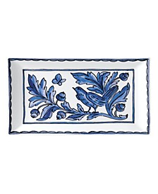 "Blue Bird 11"" Rectangular Platter"