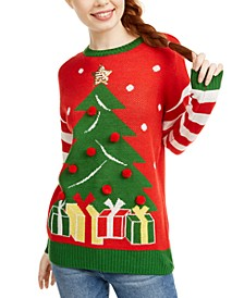 Juniors' Christmas Tree Sweater