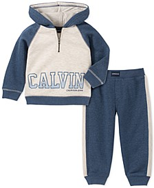 Baby Boys 2-Pc. Colorblocked Hoodie & Jogger Pants Fleece Set