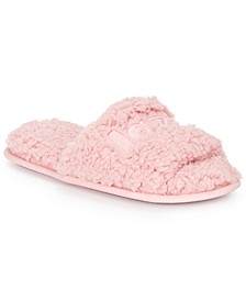 Women's Lazy Day Faux-Sherpa Slippers, Created For Macy's