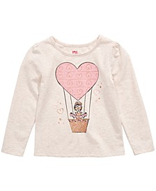 Little Girls Heart Air Balloon Long Sleeve T-Shirt, Created For Macy's