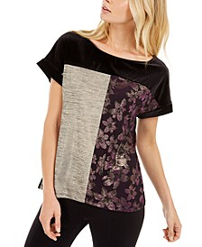 Metallic Patchwork T-Shirt