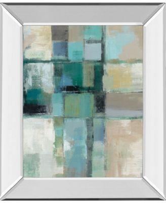 "Island Hues Crop 2 by Sylvia Vassileva Mirror Framed Print Wall Art - 22"" x 26"""