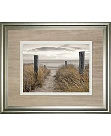 "Beach Day by Frank, A. Framed Print Wall Art - 34"" x 40"""