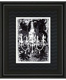 "Chandelier Black and White by Kent Youngstrom Framed Print Wall Art - 34"" x 40"""