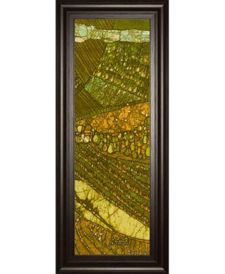 "Vineyard Batik Il by Andrea Davis Framed Print Wall Art - 18"" x 42"""