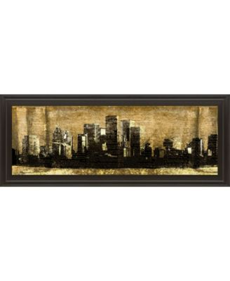 """Defined City Il by SD Graphic Studio Framed Print Wall Art - 18"""" x 42"""""""