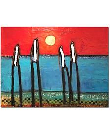 """William DeBilzan Beach Boys 36""""x48""""x2"""" Gallery-Wrapped Canvas Wall Art"""