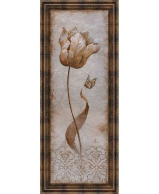"""Tulip and Butterfly I by Nan Framed Print Wall Art - 18"""" x 42"""""""